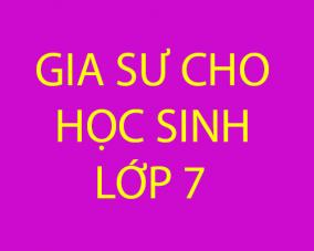 Gia sư dạy kèm cho học sinh mất gốc lớp 7 tại Hà Nội
