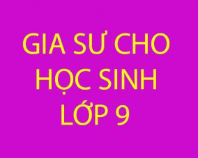 Gia sư dạy kèm cho học sinh mất gốc lớp 9 tại Hà Nội